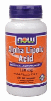 Альфа липоевая кислота, Now Foods, Alpha Lipoic Acid, 100 mg, 60 Caps