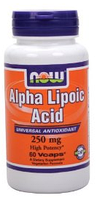 Альфа липоевая кислота, Now Foods, Alpha Lipoic Acid, 250 mg, 60 Caps