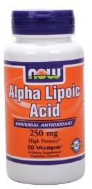 Альфа липоевая кислота, Now Foods, Alpha Lipoic Acid, 250 mg, 60 Caps - Интернет-магазин Vitamin-Market  в Львове
