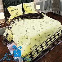 Полуторный комплект постельного белья из бязи ШАНЕЛЬ (150*220)