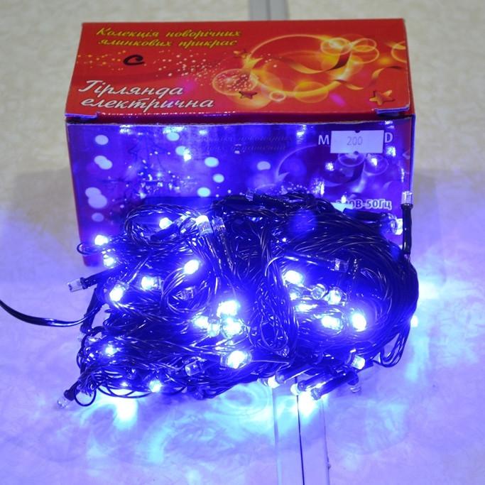 Новогодняя гирлянда 300 ЛЕД синяя