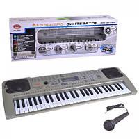 Мини-пианино для маленьких и больших детей mq-807usb, обучающий синтезатор, читает мр3 с usb-flash, микрофон