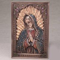 Бронзовая картина Дева Мария (15*23 см)
