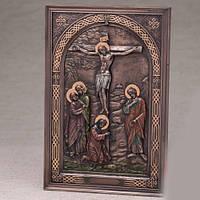 Бронзовая картина Распятие Иисуса (15*23 см)