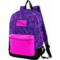 Рюкзак для девочки Winner фиолетовый  167, фото 3