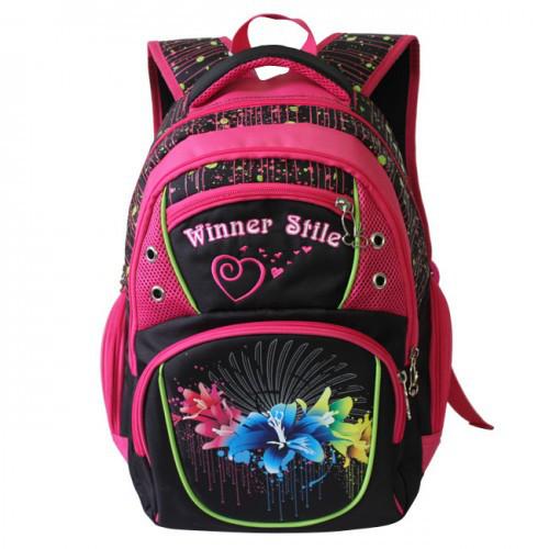 Рюкзак для девочки Winner розовый  153