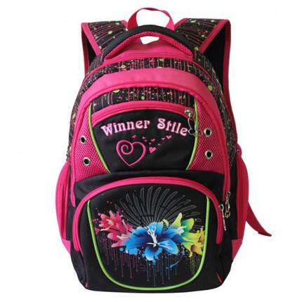 Рюкзак для девочки Winner розовый  153, фото 2