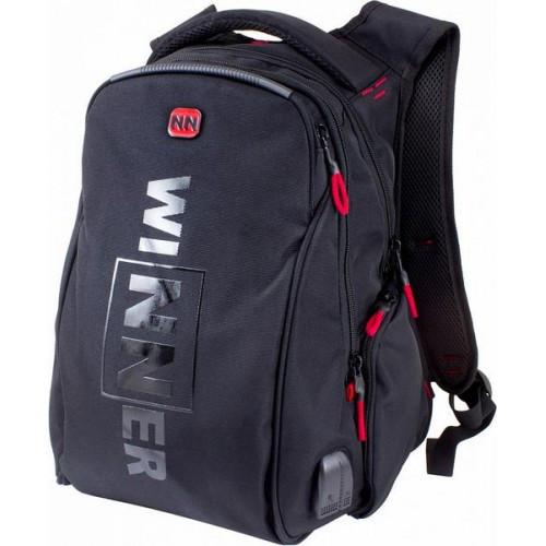 Рюкзак для мальчика Winner черный  394-12 R