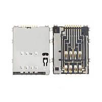 Оригинальный коннектор сим карты Samsung P5100 Galaxy Tab 2 10.1, Оригінальний коннектор сім карти Samsung P5100 Galaxy Tab 2 10.1