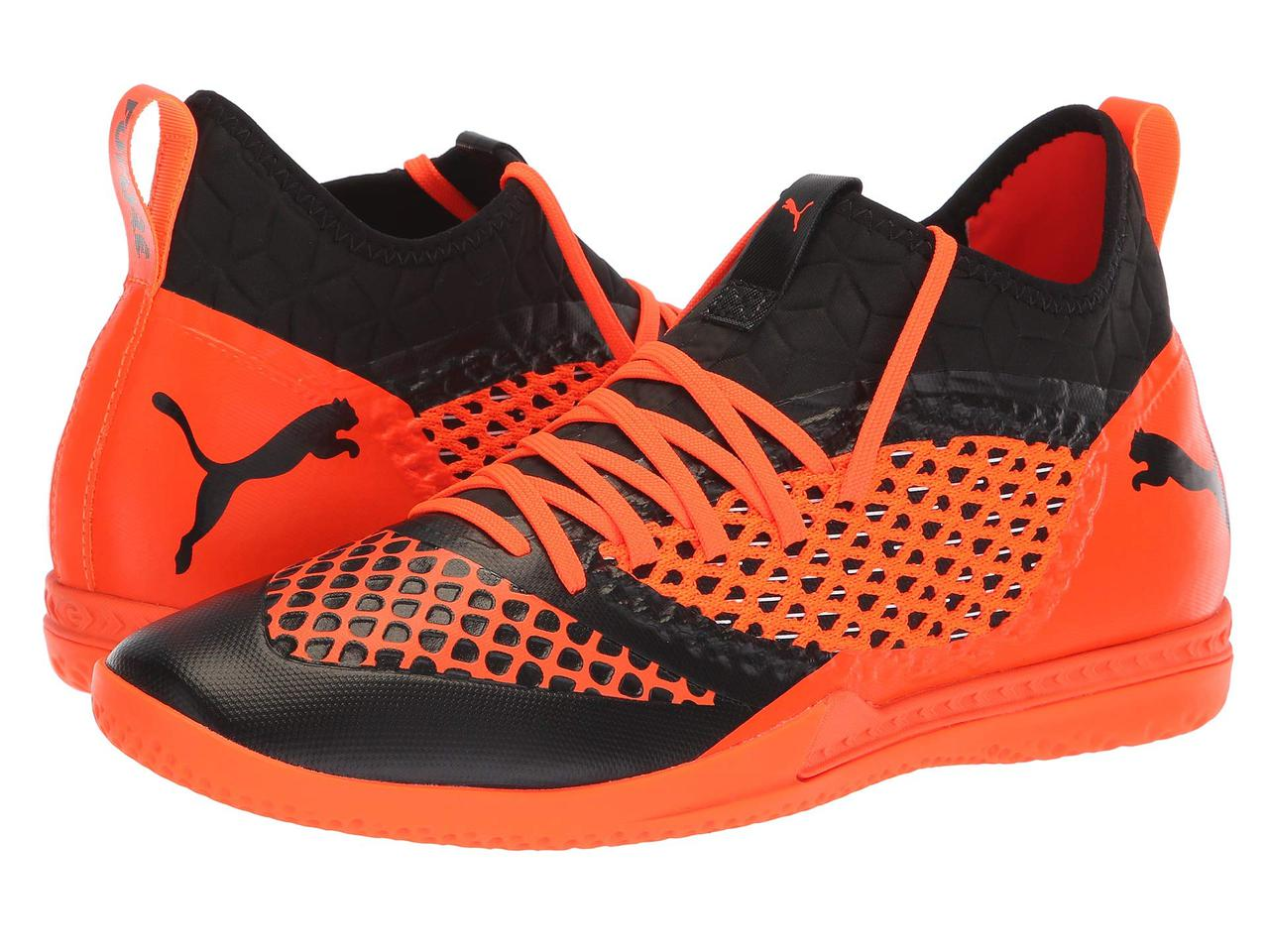 Кроссовки Кеды (Оригинал) PUMA Future 2.3 Netfit IT Puma Black Shocking  Orange 3780cf5849bf4