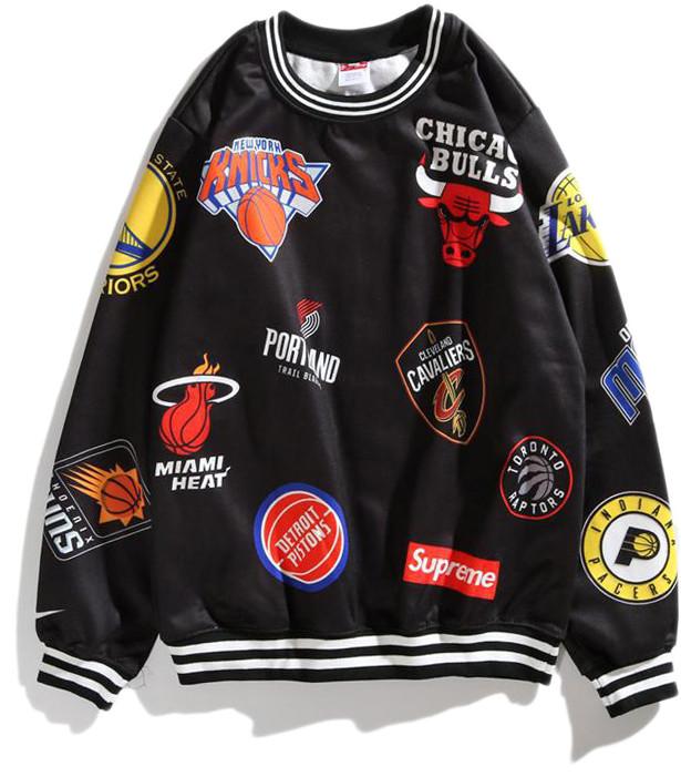Мужской свитшот Supreme Basketball (Суприм) черная