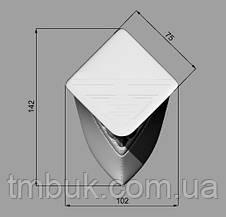 Ножка для тумбы гнутая в форме лепестка из дерева. Опора мебельная резная с площадкой. Ясень.100 мм., фото 3