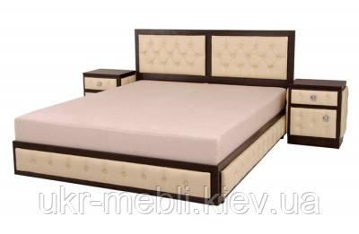 Кровать двуспальная с матрасом и нишей Экзотика 140, Алис-м