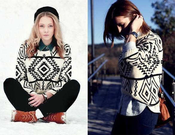 Женский свитер Геометрия,
