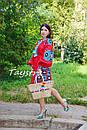 Короткое платье красное вышиванка лен, этно, стиль бохо шик, вишите плаття вишиванка, Bohemian,стиль Вита Кин, фото 2