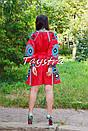 Короткое платье красное вышиванка лен, этно, стиль бохо шик, вишите плаття вишиванка, Bohemian,стиль Вита Кин, фото 10