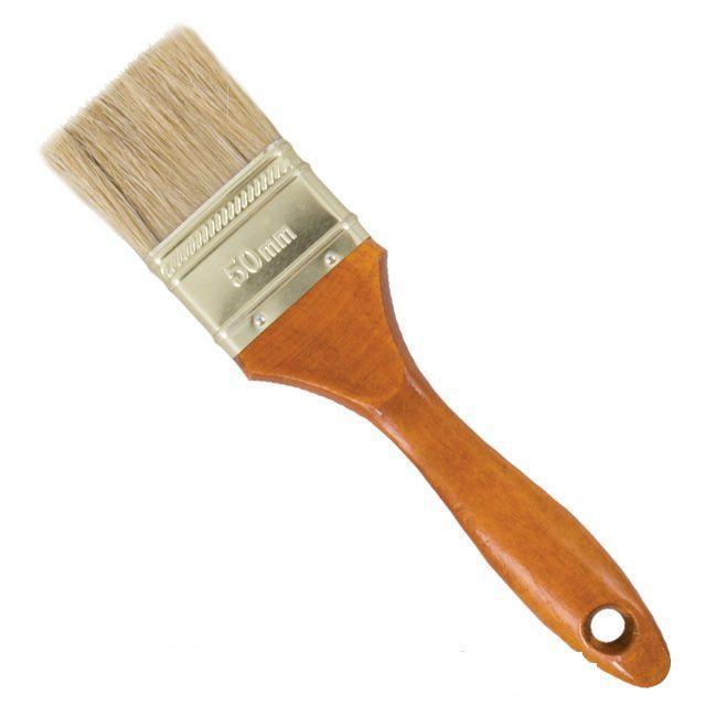 Кисть флейцевая 25х12х38мм коричневая INTERTOOL KT-1025
