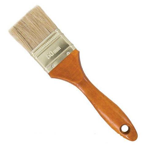 Кисть флейцевая 25х12х38мм коричневая INTERTOOL KT-1025, фото 2
