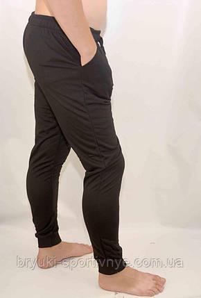 Штаны спортивные зауженные под манжет - черные, фото 2