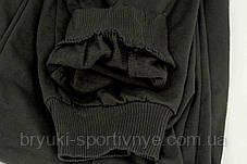 Штаны спортивные зауженные под манжет - черные, фото 3