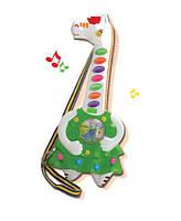 Гитара игрушечная-жираф на батарейках, свет+звук