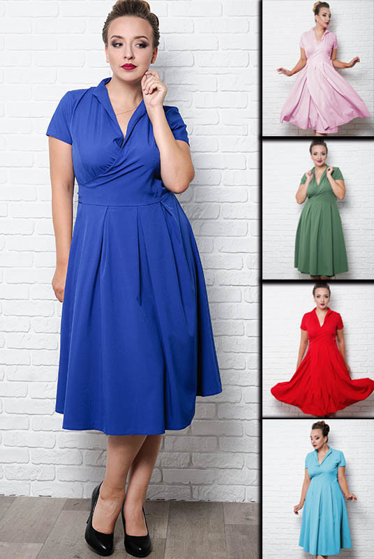 Женское Платья Бритни большого размера