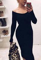 Платье женское футляр 1ф. Размер универсал 42-46. Черное, зеленое