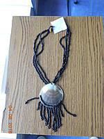 Модное украшение бусы с перламутровым кулоном, фото 1