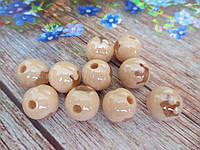 Пластиковые камни-висюльки, шар с короной, цвет кремовый пастельный, 1 шт