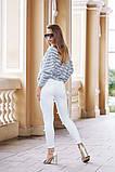 Джинсовые женские штаны ЖЕМЧУГ белые,розовые., фото 6