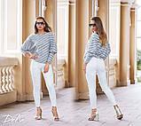 Джинсовые женские штаны ЖЕМЧУГ белые,розовые., фото 5