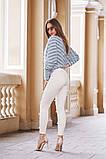 Джинсовые женские штаны ЖЕМЧУГ белые,розовые., фото 2