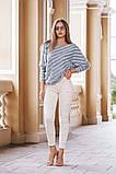 Джинсовые женские штаны ЖЕМЧУГ белые,розовые., фото 4