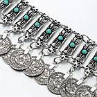 Браслет с монетами и синими вставками, фото 3