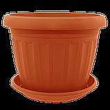 Квітковий горщик «Терра» 0.55 л, фото 3