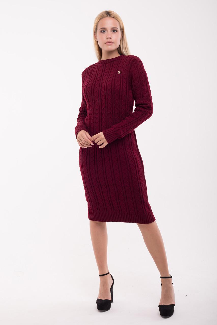 Платье вязанное Ромашка