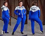 Трикотажный женский спортивный костюм Размер: 48-50, 52-54, 56-58, фото 2