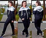 Трикотажный женский спортивный костюм Размер: 48-50, 52-54, 56-58, фото 4