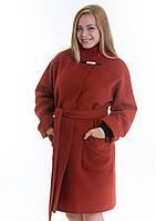 Женское пальто свободного кроя из мягкого кашемира (Размеры: 46, 48, 54)