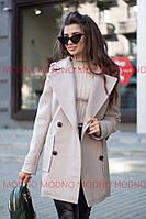 9a069ec04c7 Пальто Женское короткое без капюшона с отложным воротником светлое кашемир  С М Л