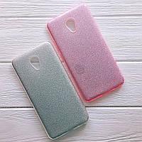 Glitter силиконовый чехол 3в1 для Meizu M6 Серебро