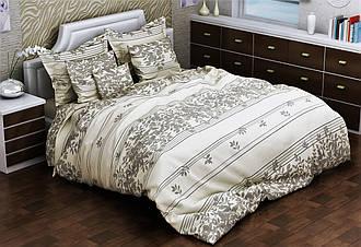 Евро комплект постельного белья 200х220 из бязи Голд Нежный лист
