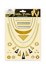 Временная татуировка на тело Golden tatoo Lily HYG, фото 3