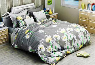 Семейный комплект 150х220 (2 шт) постельного белья из бязи голд Пышные одуванчики