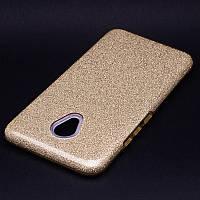 Glitter силиконовый чехол 3в1 для Meizu M6 Note Золото