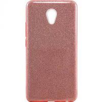 Glitter силиконовый чехол 3в1 для Meizu M6 Note Розовый