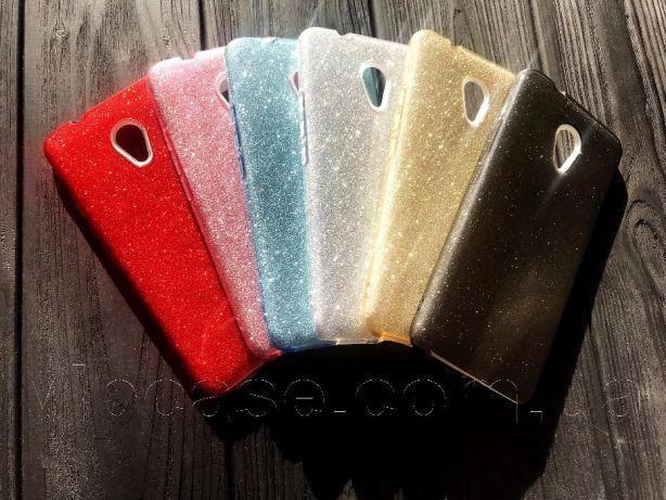 Glitter силиконовый чехол 3в1 для Meizu M6 Note Красный