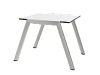 Столик для шезлонга Papatya Zen 1050 M белый, фото 1