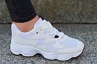 Кроссовки женские, подростковые белые в стиле Nike очень модные, популярные (Код: 1207)