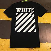 Off-White черная мужская футболка